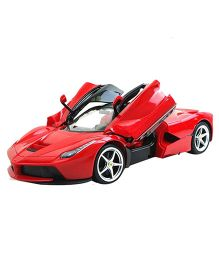 Flyers Bay Rechargeable Ferrari Style RC Car With Fully Function Doors - Red