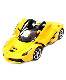 Flyers Bay Rechargeable Ferrari Style RC Car With Fully Function Doors - Yellow