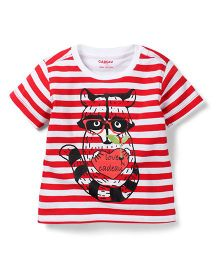 Kidsplanet Raccoon Print T-Shirt - Red