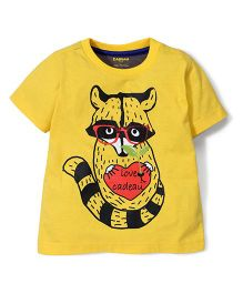 Kidsplanet Raccoon Print T-Shirt - Yellow
