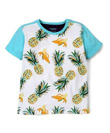 Kidsplanet Pineapple Print T-Shirt - Blue