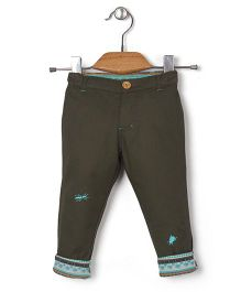 Kidsplanet Insect Applique Pants - Dark Green