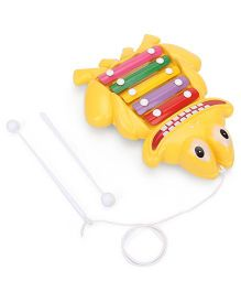 Prime Creation Pull Along Frog Xylophone - Yellow