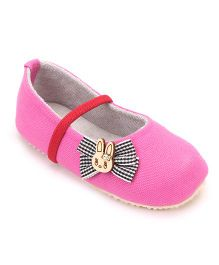 Nena Rabbit Face Pair Of Shoes - Pink