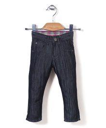 Quick Seven Stylish Denim Pant - Grey & Pink