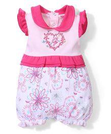 Wonderchild Flower Print Romper - Pink