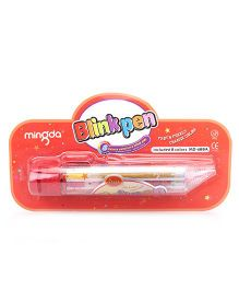 Playmate 8 in 1 Glitter Gel pen - Red