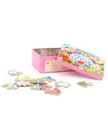 Playmate Puzzle With Numbers Doraemon Pink - 48 Pieces