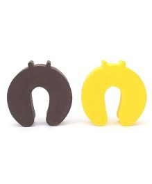 Cutez Door Guards Small Brown And Yellow - Pack Of 2