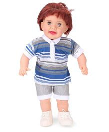 Speedage Romeo Baba Doll Blue & Grey - 20 Inches