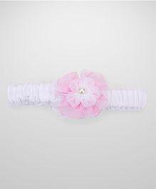 Nena Flower Headband - White