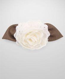 Nena Big Flower Hair Clip - Off White