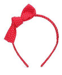 Nena Polka Dot Hair Band - Red