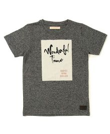 Raine And Jaine Wonderful Time Printed T-Shirt - Grey