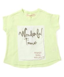 Raine And Jaine Wonderful Time Printed Tee - Green