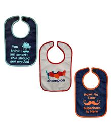 Nahshonbaby Bibs Multiprint Pack of 3 - Black White