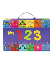 My 123 - 24 Mini Block Books With a Play board to Practice The Numbers 1 to 10