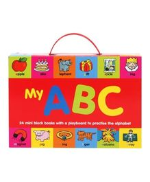 My ABC 24 Mini Block Books With a Play Board to Practice the Alphabet