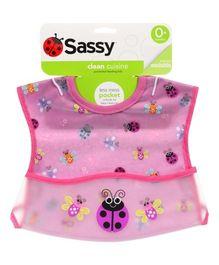 Sassy Pocket Feeding Bib Pink