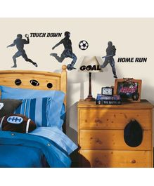 Elementto Sports Silhouttes Wall Stickers