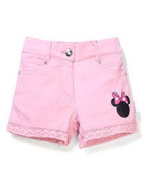 Disney Shorts Minnie Print - Pink