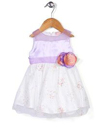 Little Coogie Rose Print Dress - Purple
