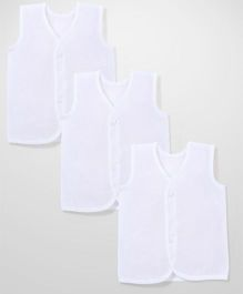 Chocopie Sleeveless Vest Set of 3 - White