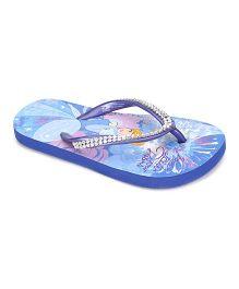 Disney Princess Flip Flops Cinderella Design - Blue