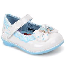 Disney Belly Shoes Bow Applique - Blue White
