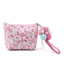 The Eed Love Print Purse - Light Pink