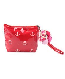 The Eed Anchor Print Purse - Red