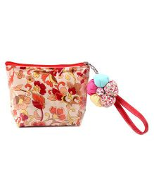 The Eed Floral Print Purse - Red