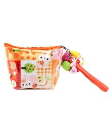 The Eed Rabbit Print Purse - Orange