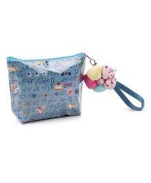 The Eed Alphabet Print Purse - Blue