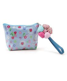 The Eed Strawberry Print Purse - Sky Blue