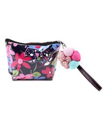 The Eed Floral Print Purse - Black