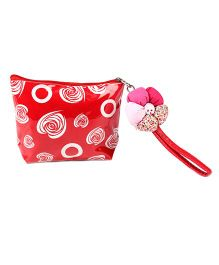 The Eed Love Circle Print Purse - Red