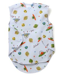 Dear Tiny Baby Wrap Vest - Blue