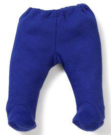 Dear Tiny Baby Footed Leggings - Royal Blue