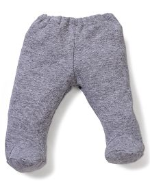 Dear Tiny Baby Footed Leggings - Grey