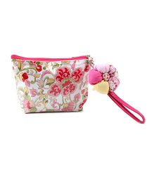 The Eed Alphabet Print Purse - Pink
