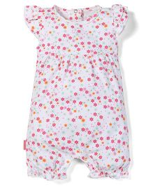 Little Wacoal Flower Print Onesie - Pink