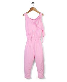 Chic Girls Casual Jumpsuit - Pink