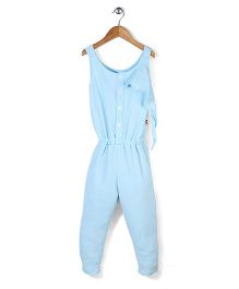 Chic Girls Casual Jumpsuit - Blue