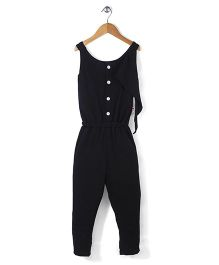 Chic Girls Casual Jumpsuit - Black