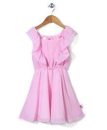 Chic Girls Sleeveless Frock - Light Pink