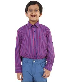 Oxolloxo Full Sleeves Stripes Shirt - Purple