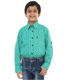 Oxolloxo Full Sleeves Floral Print Shirt - Green