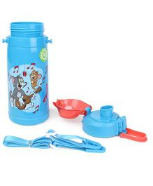 Tom & Jerry Double Walled Sing Along Print Water Bottle Blue - 400 ml