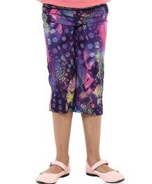 Oxolloxo Culottes Abstract Print - Multicolor